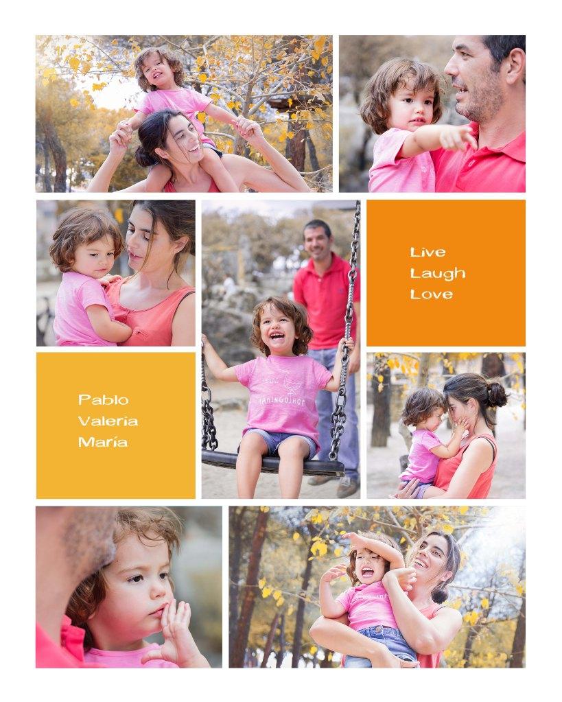 Pablo Maria y Valeria collage naranja